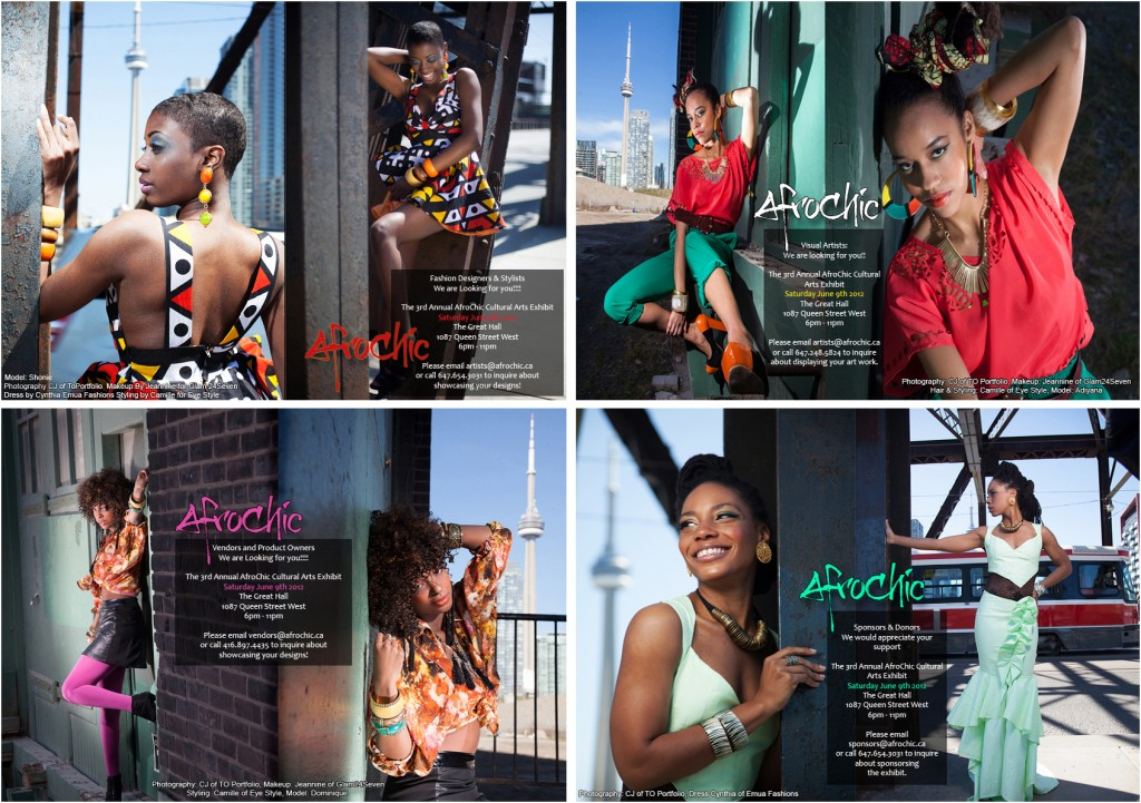 Afro chic 2012 online marketing material