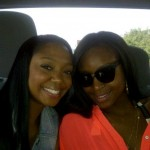 My business partner, Bianca Brown, and I on our way to Santa Monica beach.