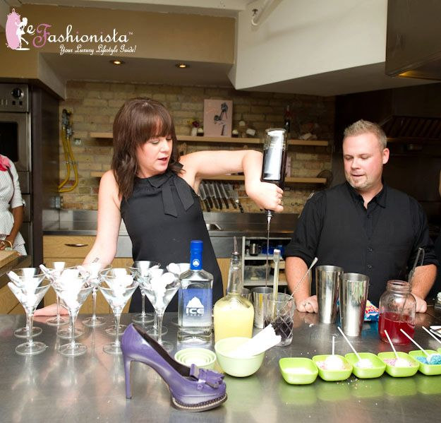 Lana Tobin martini mistress from PLAY Lounge at the Le Germain hotel and Matt Jones expert mixologist from Beam Global