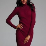 Ribbed turtleneck sweater dress - $69.50 (Victoria Secret)