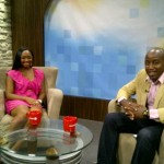 Pauleanna Reid on the set of Rogers television with host Corey Roberts