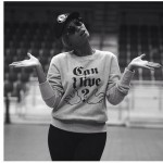 "Beyonce rocking a ""Can I live"" Tee at the Super Bowl rehearsal"