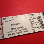 My Oprah ticket