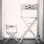 "Bey Instagrammed this photo, showing her director's chair alongside a mini version with ""BIC"" (Blue Ivy Carter) written on the back."