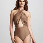 6 Shoreroad Cabana Twist-Halter One-Piece Swimsuit
