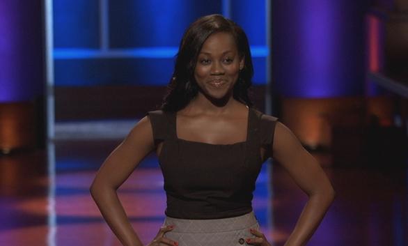 Bea Arthur making a presentation on the hit TV show, Shark Tank