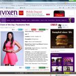 Print screen of my Vibe Vixen profile