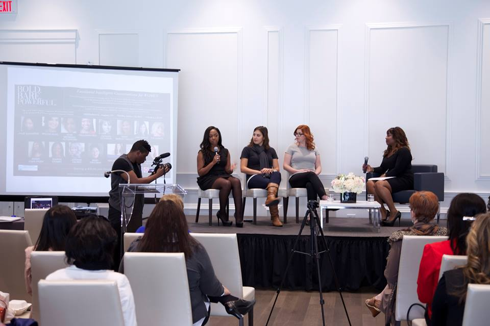 """Pauleanna on the """"Business and Money"""" panel at the 2013 Bold. Bare. Powerful event"""