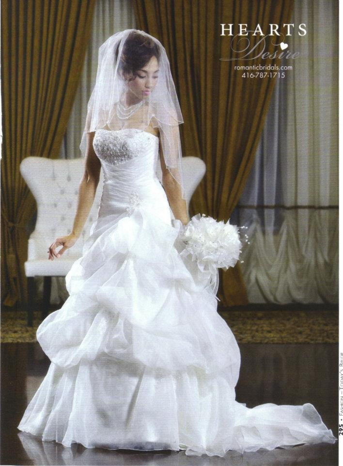 Rosemary in a bridal advertisement