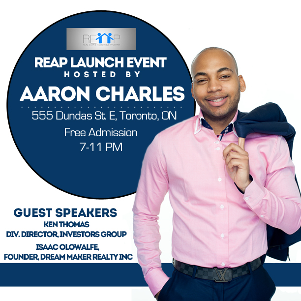 REAP Launch (A Real Estate Assistance Program For Young Canadians)  @ Paintbox Catering and Bistro | Belleville | Ontario | Canada