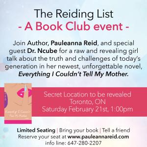 The Reiding List Book Club Event