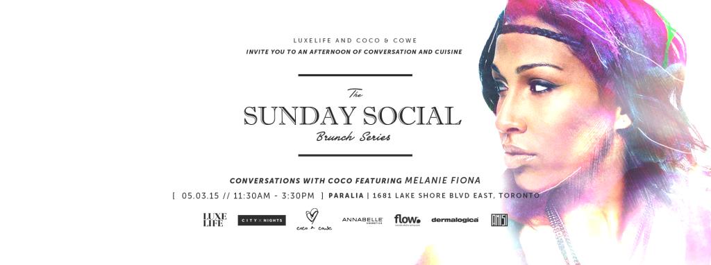 THE SUNDAY SOCIAL - Conversations with Coco + Melanie Fiona @ Paralia  | Toronto | Ontario | Canada