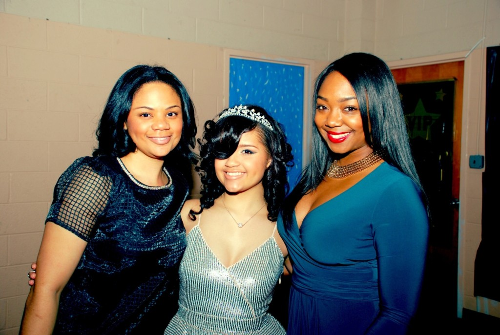 My mentee Brooke, her mother, and I at her sweet 16 in Philly