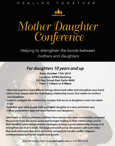 Power to Girls Foundation Presents: Mother Daughter Conference @ KPMG Building  | Toronto | Ontario | Canada