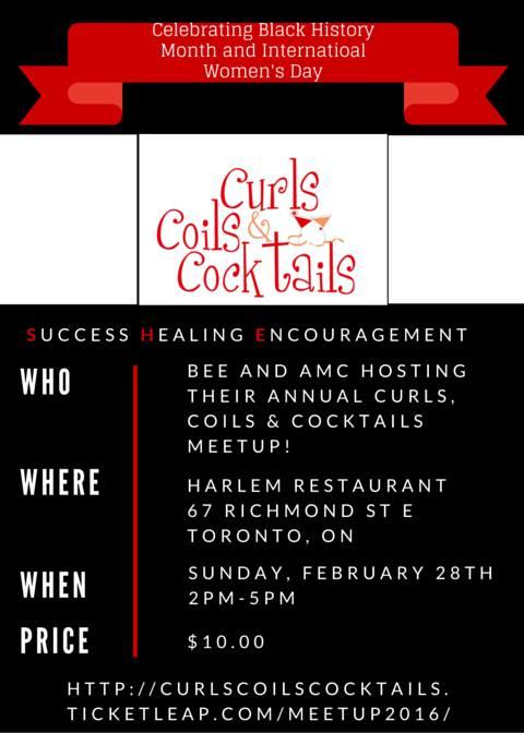 Curls, Coils & Cocktails @ Harlem Restaurant    Toronto   Ontario   Canada
