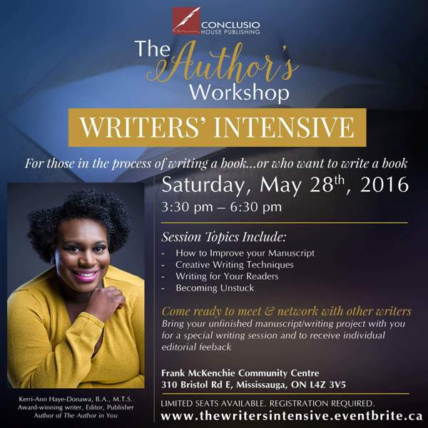 The Author's Workshop: Writers' Intensive @ Frank McKechnie Community Centre | Mississauga | Ontario | Canada