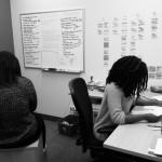 Safia (left) and Talia (right) in our Toronto headquarters