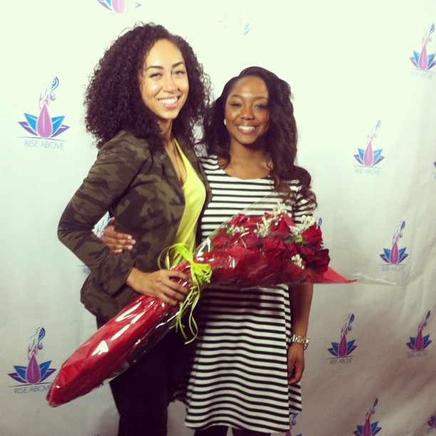 Shannon and I at the RISE Above Women's Empowerment Conference, 2014